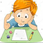 stock-vector-illustration-of-a-kid-answering-test-questions-82843036